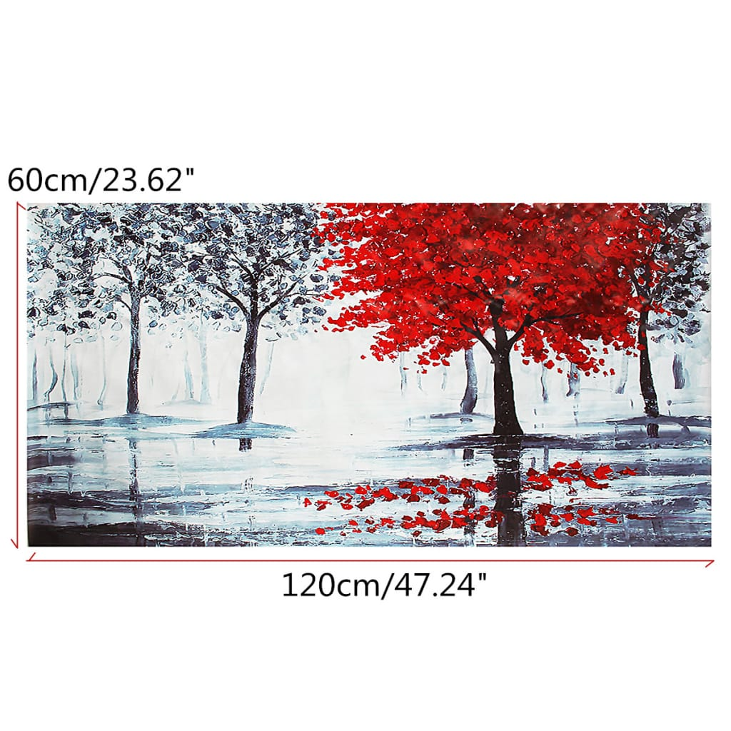 Red Forest Canvas Modern Home Wall Decor Art Paintings