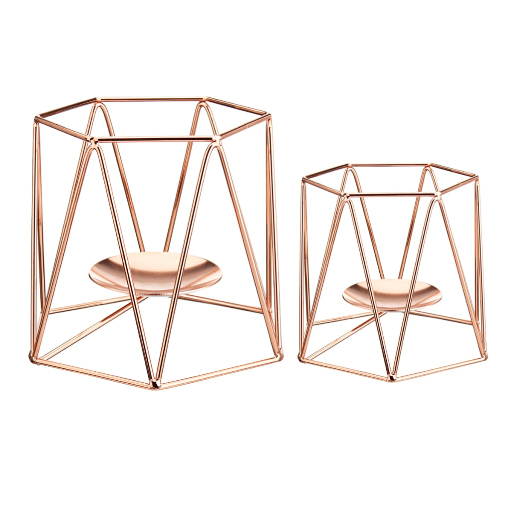 Metal Candle Holders Geometric Hexagon Candle Holder - 4