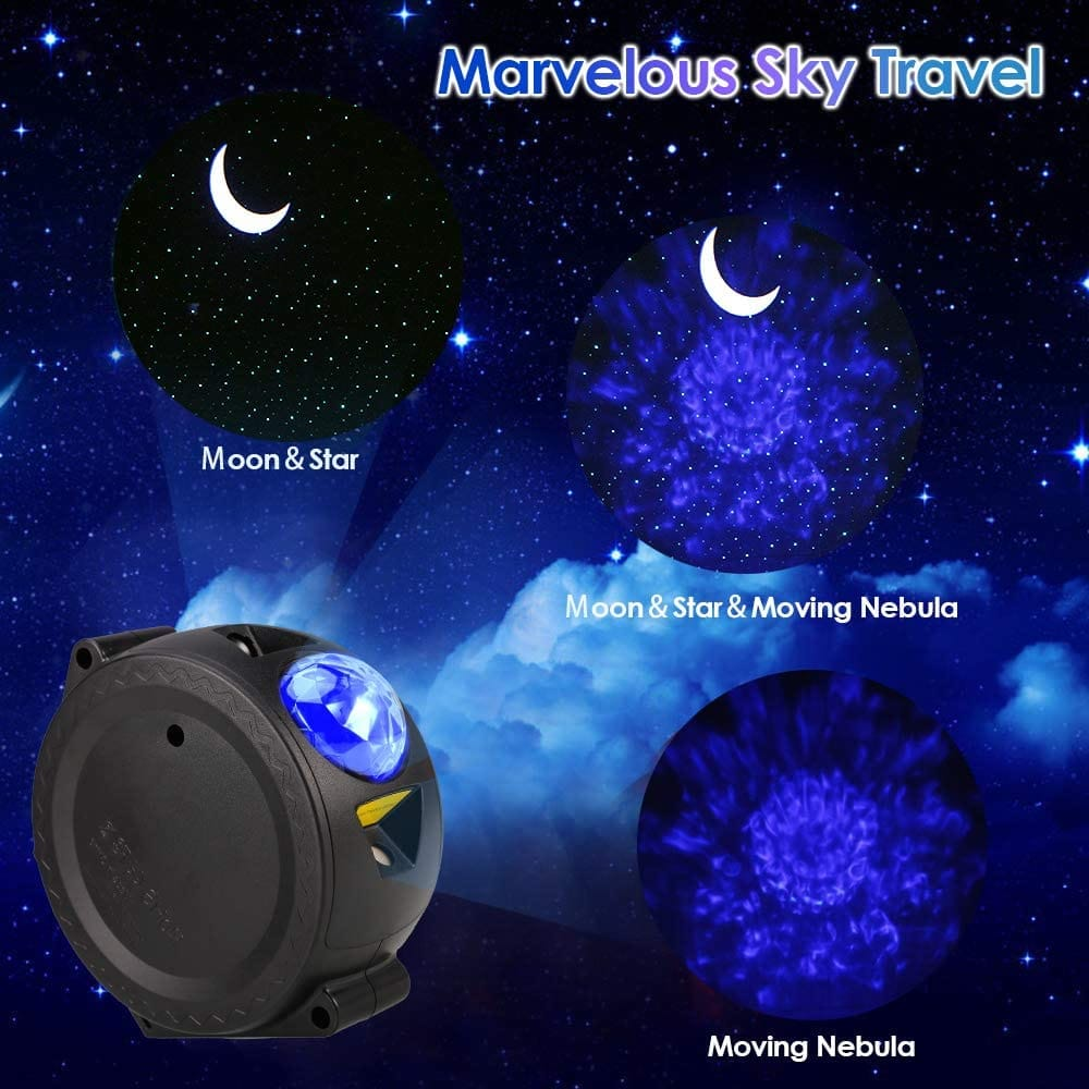 3-in-1 Starry Star Night Light Projector Rechargeable