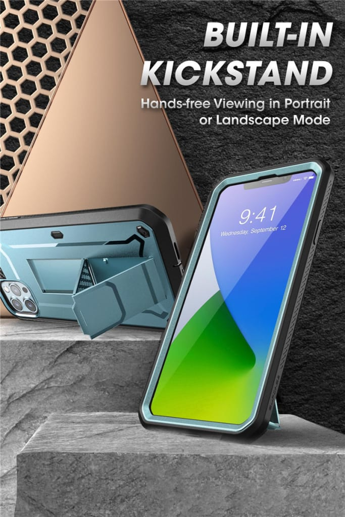 For Iphone12 Pro Max Full-body Rugged Cover W/built-in