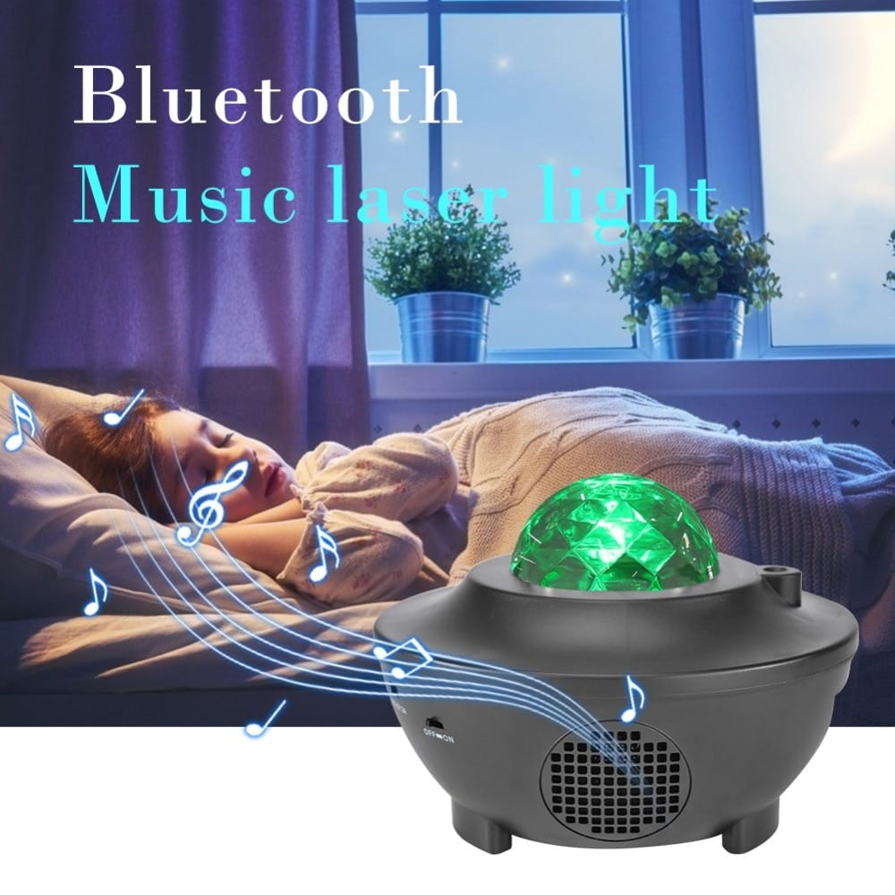 Bluetooth Music Starry Night Light Projector W/ Remote