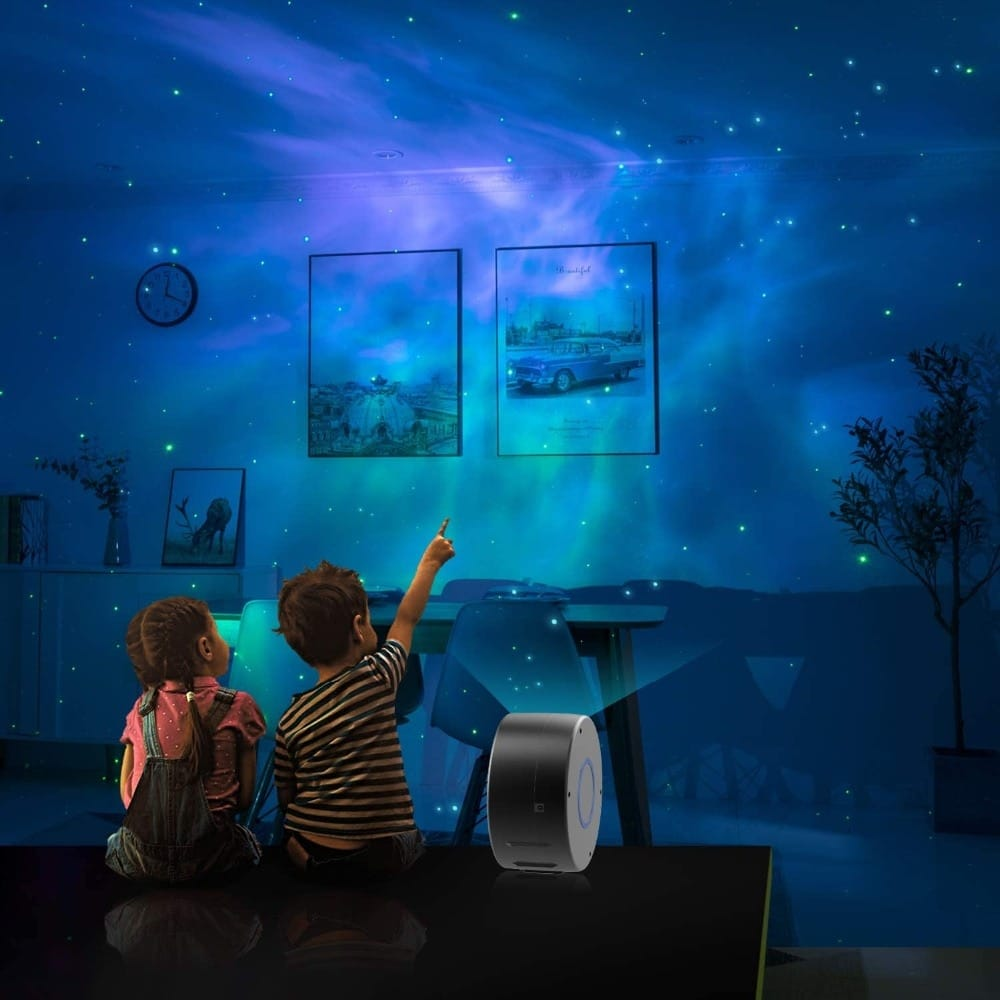 2 in 1 Aurora Starry Sky Projector Galaxy Night Light
