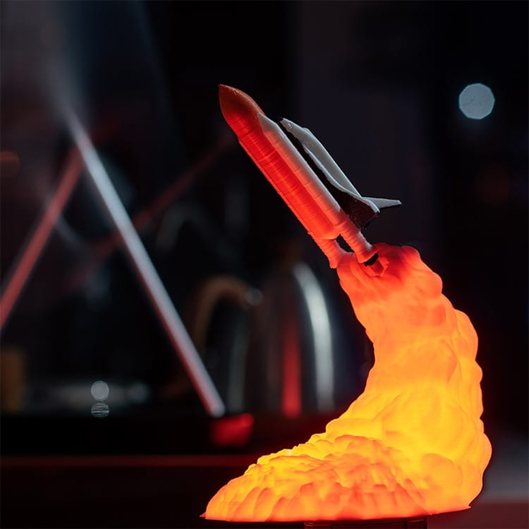 3d Printing Space Shuttle Lamp and Moon Night Light