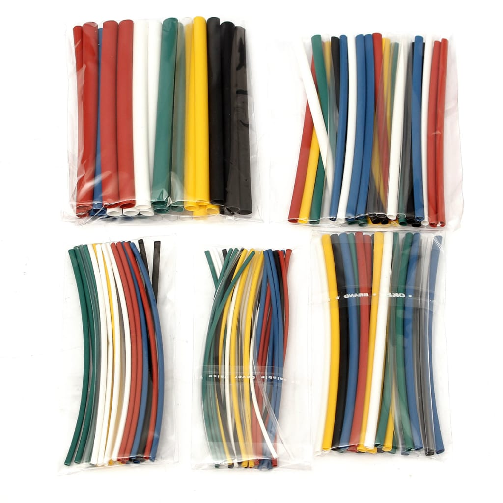 140pcs Halogen-free 2:1 Heat Shrink Tubing Wire Cable