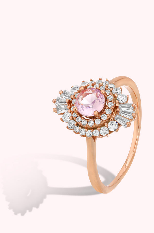 .925 Rose Gold Vermeil - Art Deco Sunburst