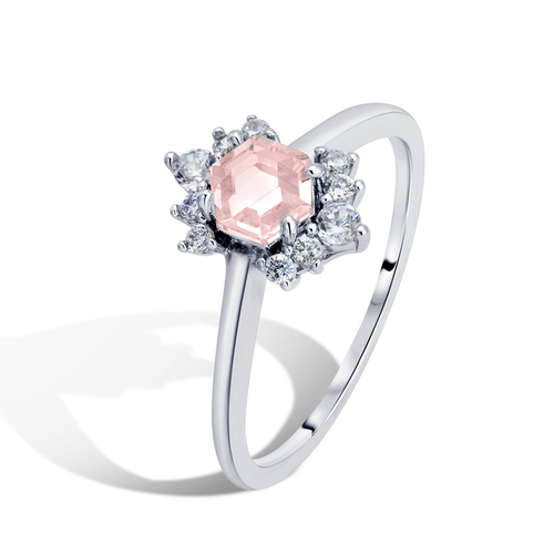 .925 Pink Lady Sterling Silver Ring