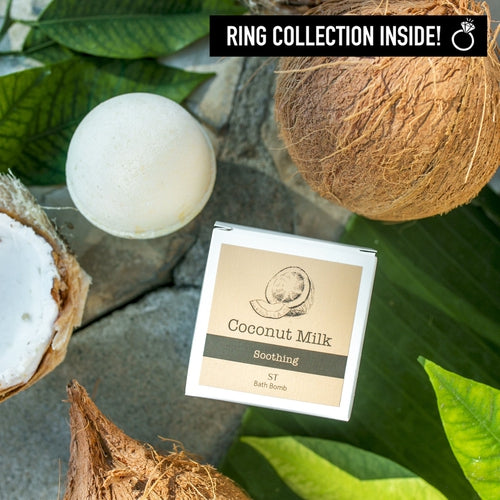 Ring Bath Bombs - Coconut Milk Soothing Ring Bath Bomb