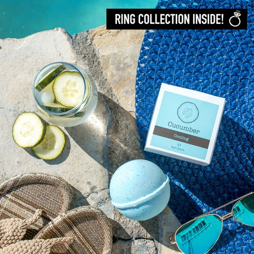 Ring Bath Bombs - Cucumber Cooling Ring Bath Bomb