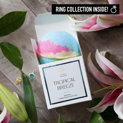 Ring Bath Bombs - Tropical Breeze Ring Bath Bomb