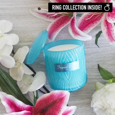 Tropical Breeze Ring Candle Custom Jar