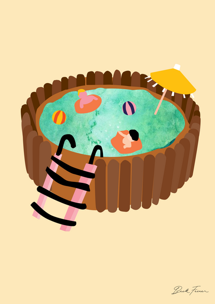 CAKE POOL TIME! A2 PRINT - FREE SHIPPING