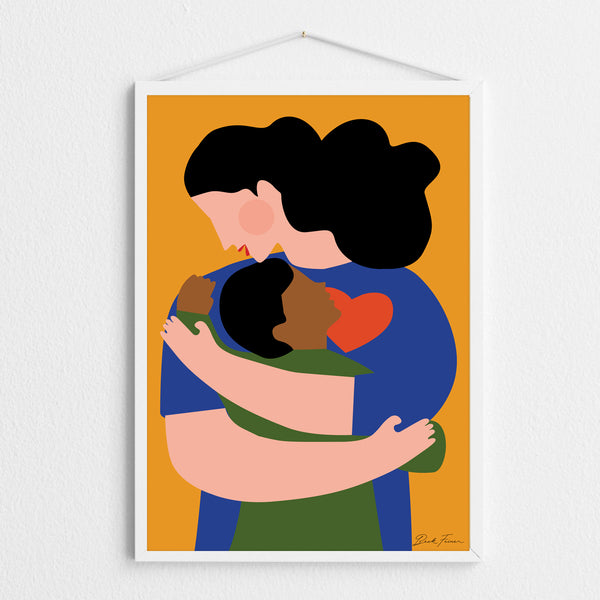 MOTHER CHILD A2 PRINT (FREE SHIPPING)