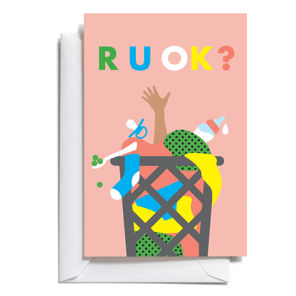 R U OK? Mini Greeting Cards (free shipping)