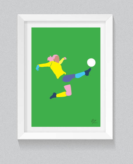 'KICK LIKE A GIRL' SAM KERR - FREE SHIPPING ANYWHERE IN AUSTRALIA