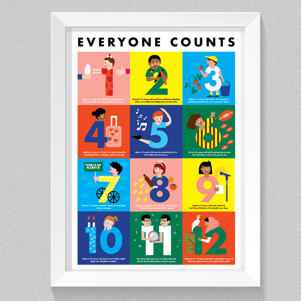EVERYONE COUNTS -  A2 POSTER (PRE-ORDER NOW, DISPATCHED 28TH FEB)