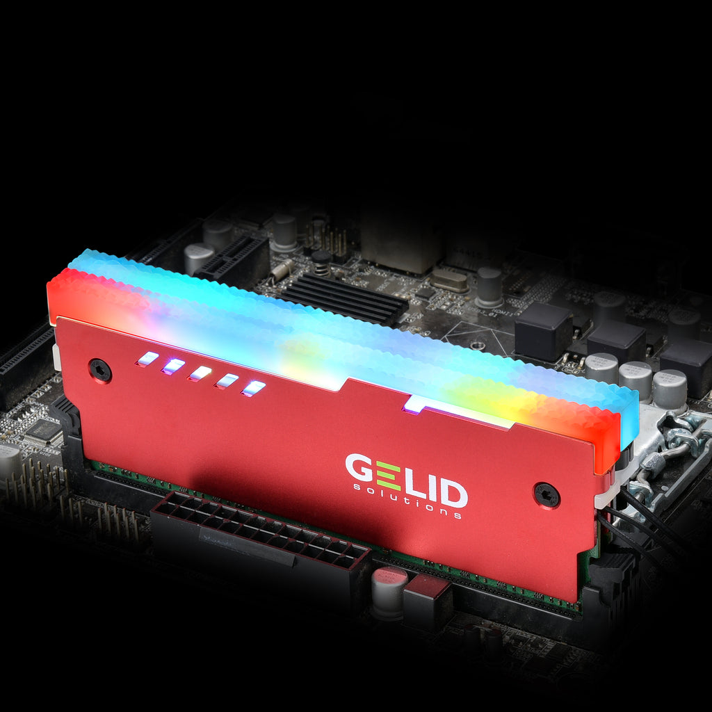 LUMEN RGB RAM COOLER RED [GZ-RGB-02]