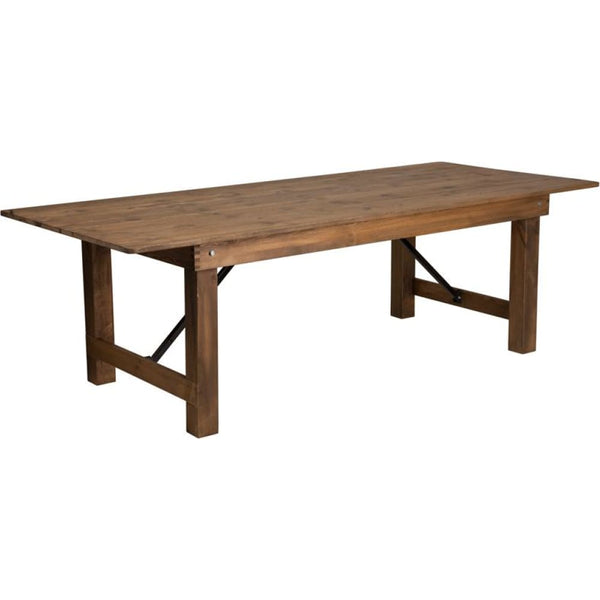 8x40 Folding Farm Table - Antique Rustic - Dinette Tables