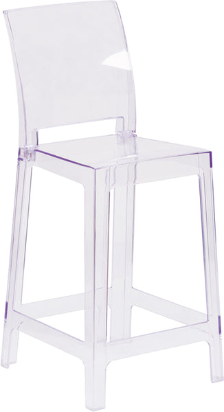 Square Back Ghost Stool