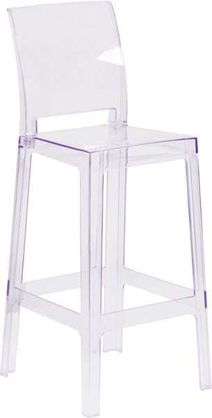 Square Back Ghost Barstool