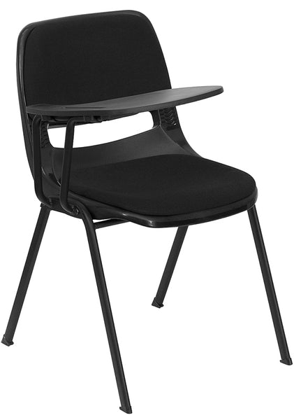 Black Plastic Tablet Arm Chair
