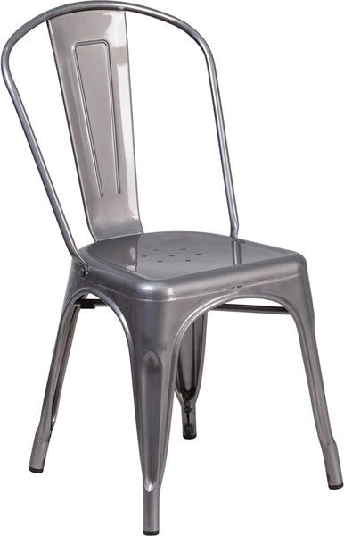 Clear Metal Indoor Chair