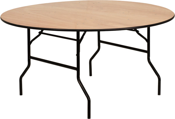 60RND Wood Fold Table