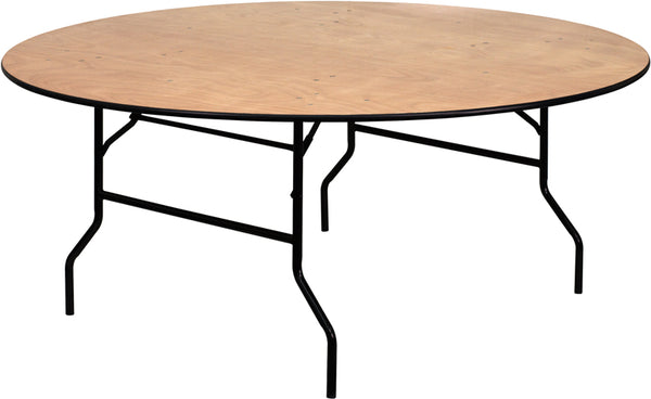 72RND Wood Fold Table