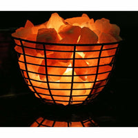 Accentuations 9-inch Himalayan Wired Basket Lamp With Natural Rocks - Desk Lamps