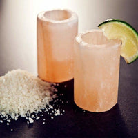 Accentuations Himalayan Salt Shot Glasses With Plastic Inserts (Set of 2) - Shot Glasses
