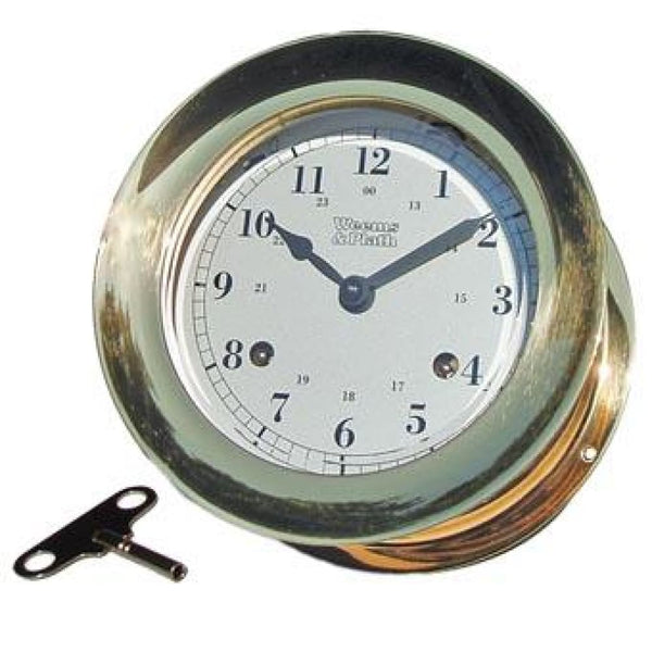 Atlantis 8-Day Ships Bell Clock - Nautical & Weather Instruments