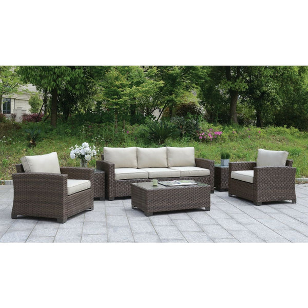 Balmer Contemporary Style Outdoor Patio 6PC Outdoor Patio Lounge Set - Outdoor Patio Furniture