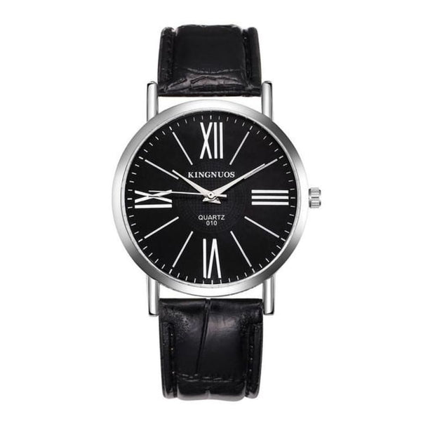 Business Style Quartz Watch Men Wrist Watches - Black black - Watches