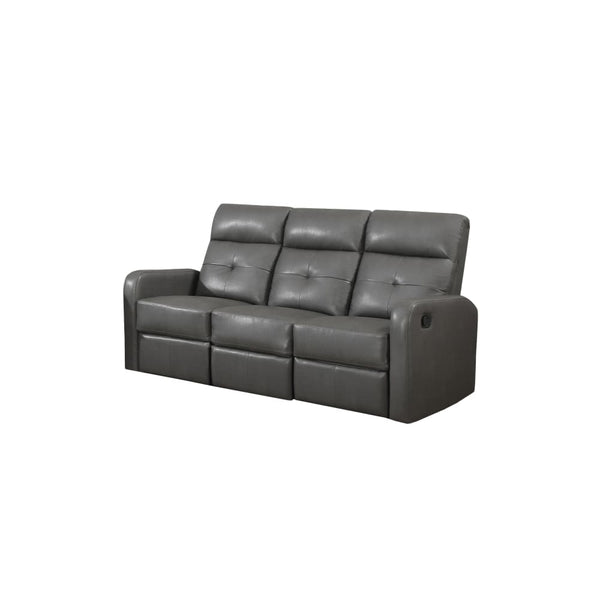 Charcoal Grey Bonded Leather Reclining Sofa - Chairs Loveseats Futons Sofas Sectionals