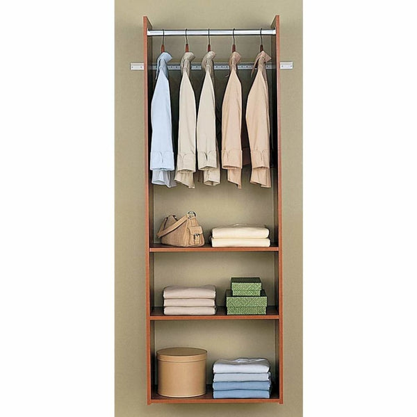 Cherry Easy Track Hanging Tower Kit - Closet Organizers & Systems