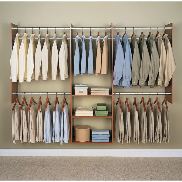 Cherry Finish 4 To 8 Easy Track Tower Closet - Closet Organizers & Systems