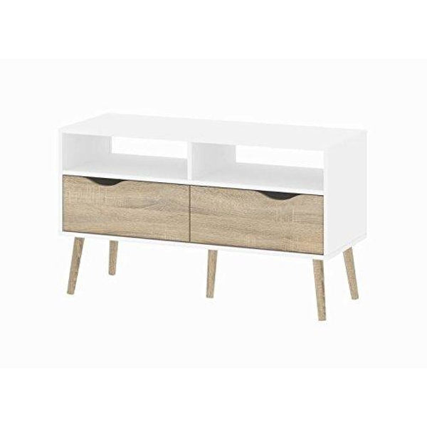 Diana TV Stand White Oak - TV Stands & Entertainment Centers