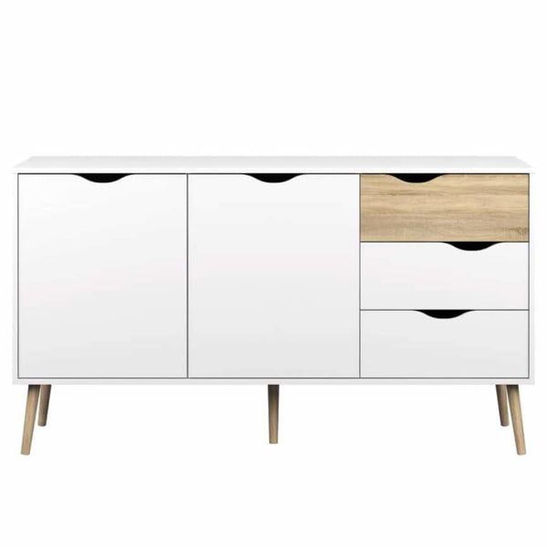 Diana Two-tone 5-drawer Sideboard - Buffets Sideboards & China Cabinets