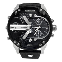 Diesel Mens Mr. Daddy Black Watch - Watches
