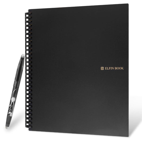 Elfinbook 2.0 Smart Reusable Wave Cloud Note Pad Lined With Pen Smart Notebook - Fun Items