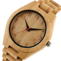Fashion Wooden Quartz Watches Men/Women Leather Band - Watches