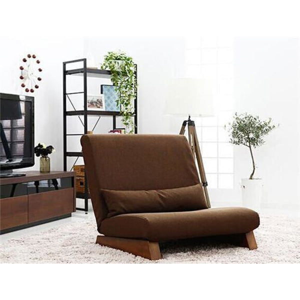 Floor Folding Single Seat Sofa Bed Modern Fabric Japanese Armless Lounge Recliner - Dark Brown - Chairs Loveseats Funtons Sofas Sectionals