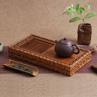 Handmade Ancient Style Bamboo Tea Ceremony Serving Table - Bamboo Tables & Trays
