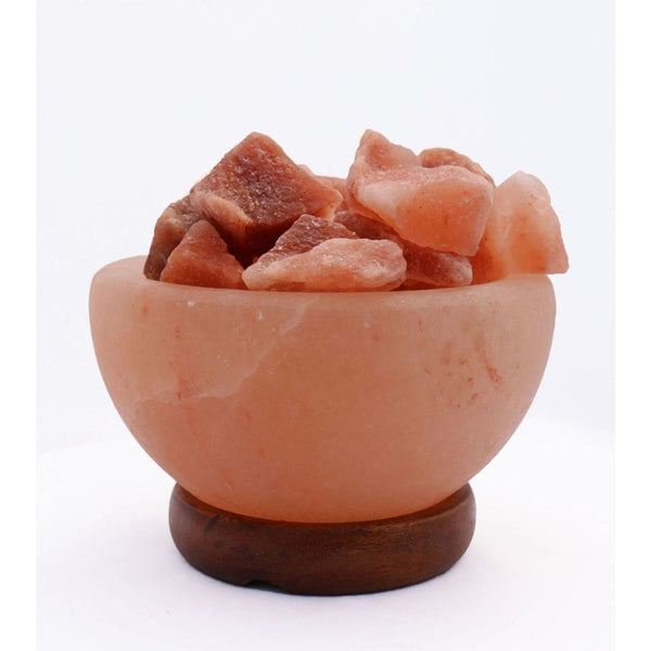 Himalayan Salt Lamp Fire Bowl With Loose Natural Rocks - Desk Lamps