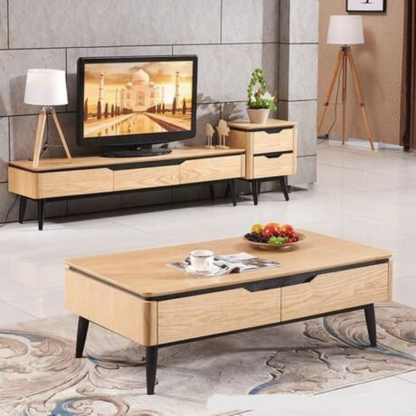 Living Room Wooden Panel Coffee Tables+TV Stands+Living Room Cabinets Set
