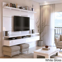 Manhattan Comfort City 2.2 Floating Wall Theater Entertainment Center - GLOSSY - TV Stands & Entertainment Centers