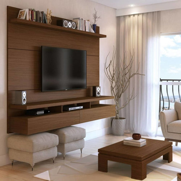 Manhattan Comfort City 2.2 Floating Wall Theater Entertainment Center - MATTE - TV Stands & Entertainment Centers