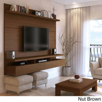 Manhattan Comfort City 2.2 Floating Wall Theater Entertainment Center - NUT BROWN - TV Stands & Entertainment Centers