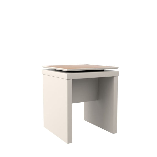 Manhattan Comfort Lincoln Square End Table - White Gloss - Coffee Console Sofa & End Tables