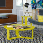 Manhattan Comfort Madison 1.0 Accent Side Coffee Table - Yellow - Coffee Console Sofa & End Tables