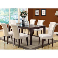 Monarch Specialties Extention Leaf Dining Table Espresso 78